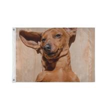 Flag Home Decor Basset Hound With Flying Ears Custom Decor Flags - $24.99