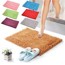 Soft Home Microfibre Chenille Mat Shaggy Microfibre Bathroom Bath Mat Wa... - $21.99