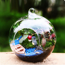 Hanging Glass Terrarium Globe Round Ball Plant Air Planter   - $3.99