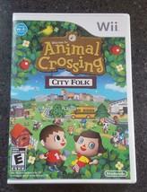 Animal Crossing City Folk (Nintendo Wii, 2008) Complete in Box (CIB) Tested - $13.00
