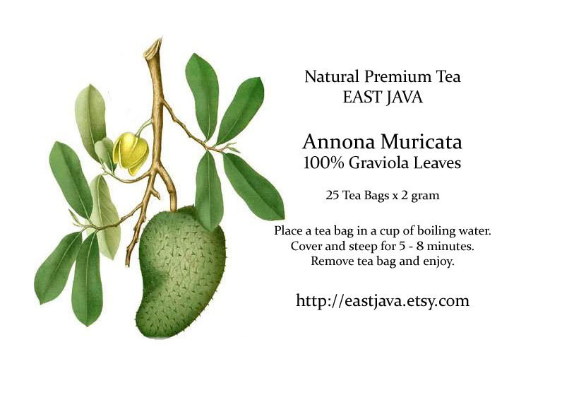 Graviola / Annona Muricata Leaves - 25 Tea Bags (FREE SHIPPING)