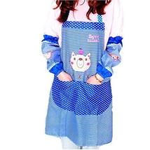 Adorable Cartoon Fashion Sleeveless Kitchen Apron, Blue Bear