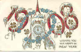 Wishing A Happy New Year 1908 Vintage Post Card - $5.00