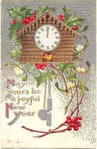 A Happy New Year 1910 Vintage Post Card - $5.00