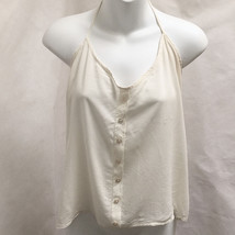 Brandy Melville Halter Top Ivory One Size Made in Italy - $21.54