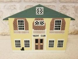 1987 Faline Cat's Meow Nautical Series YACHT CLUB Shelf Sitter Signed - $8.72