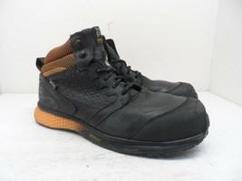 Timberland PRO Men's Mid Reaxion CT Safety Work Boot A21RU Black/Orange ... - $52.24