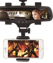 Car Phone Holder Universal Mirror 360 Degrees For iPhone Samsung GPS Sma... - $22.43