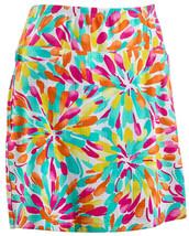 Nwt Ladies Ibkul Icikuls Flower Splash Multi Golf Tennis Skort Sizes L & Xl - $84.99