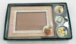 MIB Marjolein Bastin Nature's Sketchbook Seasonal Picture Frame w/ 4 Sea... - $21.73