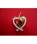 Breast Cancer Pink Ribbon Heart Lapel Pin Hat Pin Collector Souvenir Vin... - $5.99