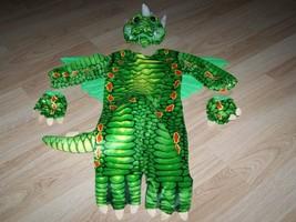 Baby Infant Size 6-12 Months Underwraps Green Lizard Dragon Halloween Co... - ₹3,126.95 INR