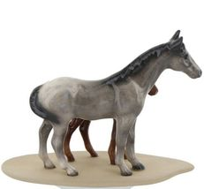 Hagen Renaker Miniature Horse Appaloosa and Colt on Base image 6