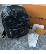 LOUIS VUITTON Josh Pixel Backpack Bag N40084 Damier Black Gray Auth New ... - $3,211.00