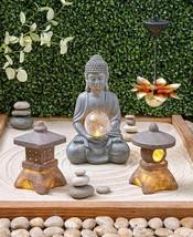 Serenity Solar Light Garden Round Square Pagoda Lantern Lotus Buddha Sta... - $14.52+