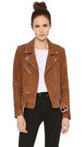 Handmade Women Brown Suede Leather Jacket,Women Slim Fit Biker Motorcycl... - $159.99+