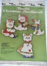 Bucilla Three Little Kittens Felt Sequin Jeweled Holiday Ornament Kit - $24.50