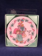 Precious Moments Bundles Of Joy Porcelain Holiday Collector Plate Easel Cat Dog - $14.84