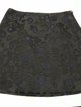Ann Taylor Women's Petite Skirt Blue & Black Brocade Print Size 8P - $20.59