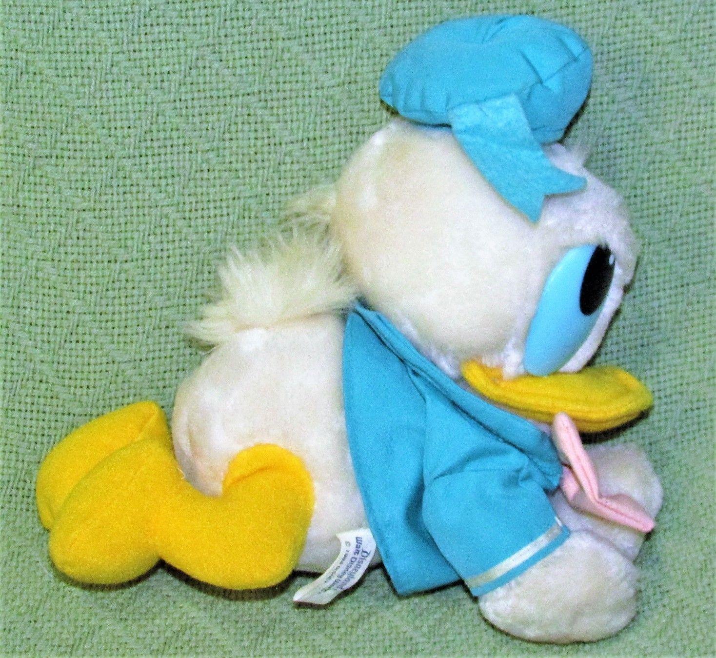 "Vintage BABY DONALD DUCK 10"" 1984 Disney Plush PLASTIC TAG Stuffed Animal  KOREA image 4"