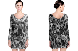 Military Camouflage military We're All Doomed LONG SLEEVE BODYCON DRESS - $24.99+