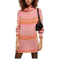 Free People Women's Top Cowl Neck Stripe Long Sleeve Tunic Sweater Dark ... - $53.99