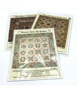 3 Quilt Patterns From My Heart to Your Hands Flowers Garden Chocolate Time  - $24.99