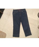 Womens 8 Gloria Vanderbilt Blue Denim Capri jeans Pants  BARELY WORN! - $12.13