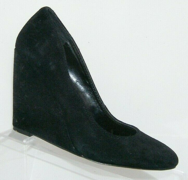 Jessica Simpson 'Amari' black suede amond toe slip on womens wedges 8.5B