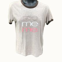"Gaziani Novelty ""Me"" Tee Juniors Sz L Brown Short Sleeve Shirt Casual To... - $8.17"