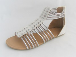 American Eagle Sandals Women's Size 5M Ankle High Silver and White New with Box - $22.52
