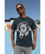 Dallas Cowboys Ripped Open Chest Graphic T Shirt - $21.99
