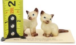 Hagen Renaker Miniature Cat Siamese Mama and Papag Ceramic Figurine Set image 2