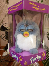 Original 1998 Spanish FURBY Blue Elephant Furby Model 70-800 NRFB NEW - $59.99