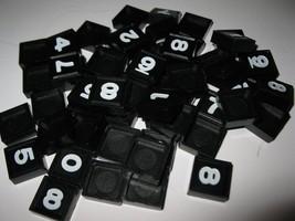"1964 Quinto 3M Bookshelf Board Game Piece: Single Black Tile ""Buyer's Choice"" - $1.00"