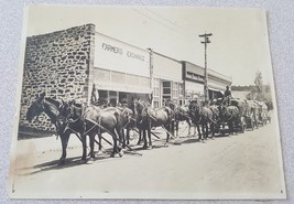 Vintage Photo Farmers Exchange Horse and Wagon - $9.89