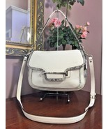 Coach Taylor Python Shoulder Crossbody Bag White Gray Leather Flap F3014... - $54.44
