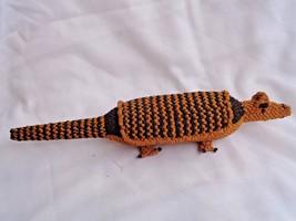 """Caiman Alligator Crocodile rope plaited figurine 12 1/2"""" long - $28.49"""