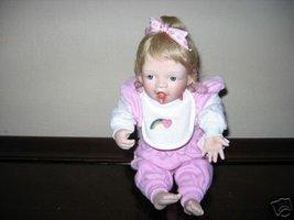 Ashton Drake Porcelain Baby Doll ~ Feeding Myself ~ MIB - $36.19