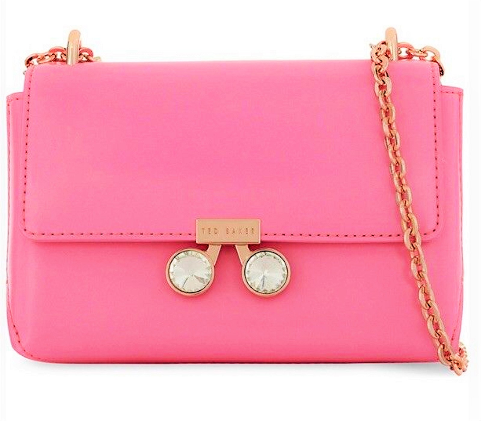 Primary image for Ted Baker London Adoni Pink Patent Leather Crystal Bobble Crossbody