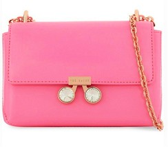 Ted Baker London Adoni Pink Patent Leather Crystal Bobble Crossbody - $125.00