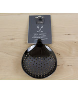 VISKI Julep Strainer Gunmetal Black Finish Metal Stainless Steel Cocktai... - $16.99