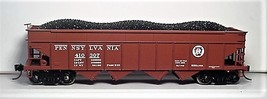 Bowser HO Scale 42062 PRR H22a 4 Bay Hopper car w/ PRR Shadow Keystone # 410307 image 1