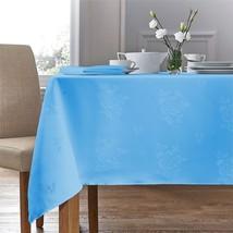 "Woven Damask Rose Light Blue Square Tablecloth 35""X35"" (89CM X 89CM) & 4 Napkins - $22.09"