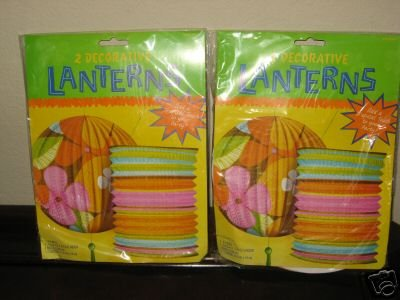 Primary image for Decorative Paper Party Lanterns Lot of 2 Packages NEW
