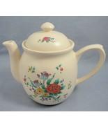 "Decorative Stoneware Teapot Painted Rose Floral Motif 7.25"" WBI Pottery ... - $7.91"