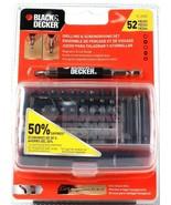 Black & Decker 51-252D 52 Piece Drilling & Screwdriving Set Magnetic Dri... - $22.99