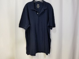 bf2f34a2 men's Faded Glory Polo Shirt Size XL 46-48 Navy Blue