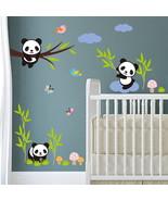 GUIGUIHU 3D Cartoon Panda Removable DIY Wall Stickers for - $13.95