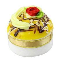 Set of 2 Artificial Cake Lifelike Cake Model Photography Props, Yellow - $13.46
